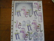 Die Cut Decoupage by Craft Creations 'Noel and Snowman'  (191)