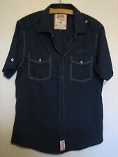 A LOVELY MENS BLUE PEPSI COLA SHORT SLEEVED SHIRT SIZE MEDIUM