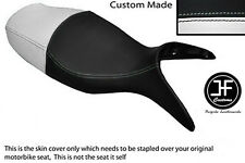 BLACK & WHITE VINYL CUSTOM FITS BMW R 1100 S 98-05 DUAL SEAT COVER ONLY
