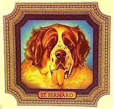 Vintage 70s St. Bernard Portrait Iron On Transfer Dog Dogs Canine Rare!