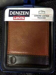 NWT Denizen  Levi's Men's Genuine Leather Pieced Passcase - Brown