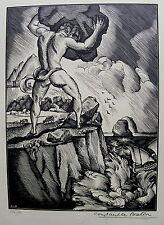 LE BRETON CONSTANT. Polypheme. Gravure sur  bois originale. 1925