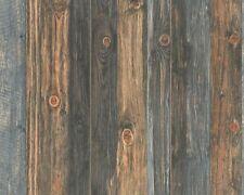 Carta da parati Effetto legno scuro Realistico Grana Pannello in legno non tessuto con effetto invecchiato