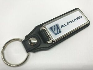 SILVER PLATED AND PU LEATHER TOYOTA  ALPHARD KEY RING NEW FREE POSTAGE