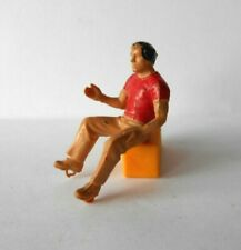 vintage Britains Ltd digger / tractor driver figure in red top