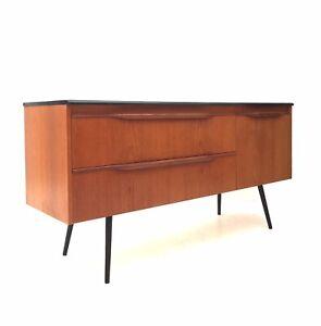Vintage Retro Mid Century 1960s Danish Era Teak Modernist Sideboard Cabinet