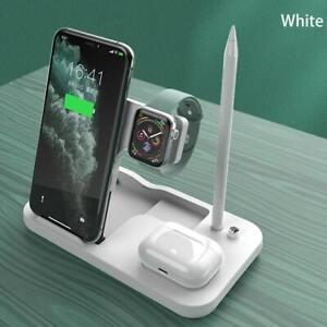 Cargador Inalámbrico rápida carga, Qi estándar inteligente 4 en 1, para Iphone