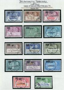 British Antarctic Territory 1971 Decimal Currency Set to 50p on 10/- (Fine Used)
