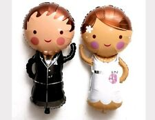 Palloncini matrimonio 40cm coppia sposi addobbi palloni sposo/sposa anniversario