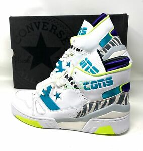 Converse ERX 260 Mid Top Leather Upper Men's Size Sneakers White Teal 163783C