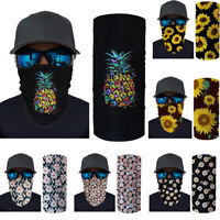 Neck Gaiter Tube Scarf Bandana Head Face Mouth Cover Headband Snood Outdoor