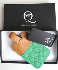 ALEXANDER McQUEEN Green & Tan Leather iPhone Case BNIB NET A PORTER REDUCED!