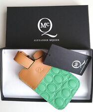 ALEXANDER MCQUEEN Verde Y Estuche De Cuero Tostado Nuevo y en caja neta un Porter iPhone reducido!