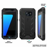 For Samsung Galaxy S7 Case,Full Coverage Protective Shockproof Cover Black