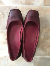 Clarks Women Ox-blood Leather Shoes, UK6D, New