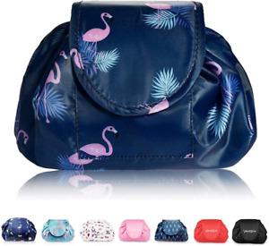 Lazy Drawstring Make up Bag Portable Large Travel Cosmetic Bag Pouch Travel Make