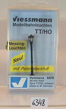 Viessmann H0/TT Nr.6970 Parklaterne schwarz 46mm hoch OVP #6348