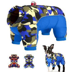 Waterproof Reflective Small Dog Jumpsuit Pet Puppy Coat Jacket Girl Boy Clothes