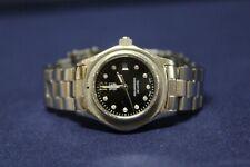 "Tag Heuer WAF141C Black 10 Diamonds Aquaracer Watch No Bezel 27mm Face 6"" Wrist"