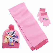 7be388d2483 My Little Pony Rainbow Dash Rarity Pom Pom Hat Gloves Scarf Set Girls 4-16