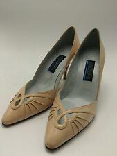 Palizzio vintage peach 80s Size 6.5M leather Spain Women Heels Pumps excellent