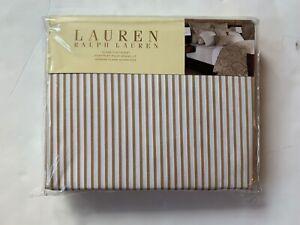 "Ralph Lauren Desert Spa Bengal Stripe Queen flat sheet 94"" X 108"" MSRP $130.00"