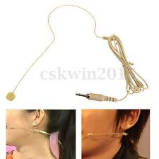 Beige Ear Hook Head Headset Mic Microphone 1.4M For Audio Technica Wireless