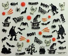 Halloween 3D Nail Art Stickers Ghosts Spider Witch Bat Boo Vampire  (Y131)