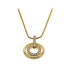Swarovski Gold-plated Circle Pendant 1081977