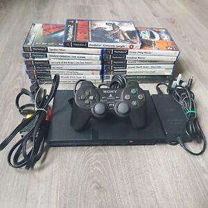 Playstation 2 Console Bundle (PS2 - slim) + 15 x Games + 1 x Controller
