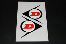 +100 Dunlop Reifen Tire Pneu Bike Aufkleber Decal Sticker Autocollant Motorrad