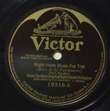 Coon-Sanders on 78 rpm Victor 19316: Night Hawk Blues/Red Hot Mamma; Cond V-