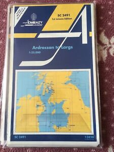 Admiralty CHARTS UNUSED Sailing SC 2491 Ardrossan to Largs.