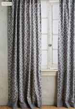 Anthropologie Curtain Panel 2 Tone Gray Concave Diamonds Single 50 x 108 NEW