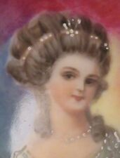 Antique EARLY Hand Painted Portrait Brooch Russian or Slavic Royalty Intricate!