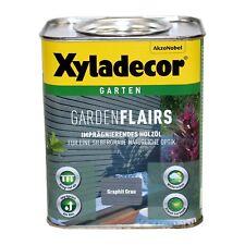 Xyladecor Garden Flairs 0,75L graphit grau Holzöl Imprägnierung BEULE
