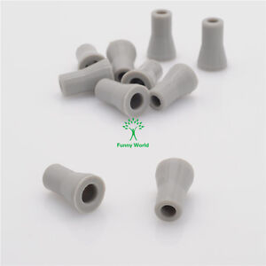 10Pcs Dentist SE Saliva Ejector Replacement Rubber Valve Snap Tip Adapter