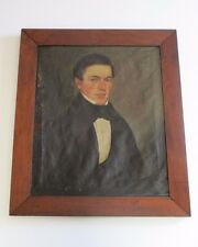 RESTORATION PROJECT 19TH CENTURY EARLY AMERICAN GENTLEMAN PORTRAIT MALE MODEL