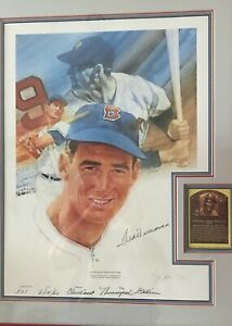 1960 Ted Williams Autographed Lithograph 'Home Run #501 LE