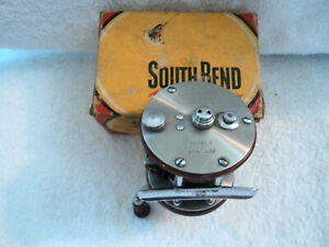 Vtg South Bend No.1250 Baitcasting Casting Fish Reel w Box Made In USA Works