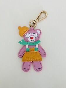 PRADA Pink bear keychain Key Fob, Rare! From Prada perfume, Super Cute ~