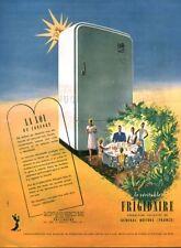 Publicité ancienne le véritable Frigidaire 1950 issue de magazine