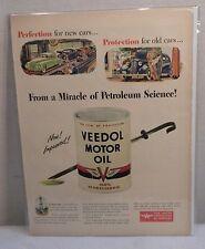 Vintage Veedol motor Oil 1946 Life Magazine Original Ad