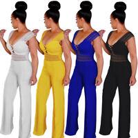 Sexy Women Clubwear Playsuit Party Jumpsuit&Romper Trouser Loose Long Pants B7O8