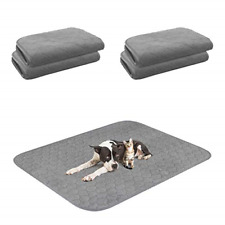 """4 Packs Washable Dog Pee Pad, 18""""24"""" Reusable Thickened Pet Pee Pads with Fast"""