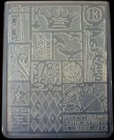 Sizzix Large Embossing Folder PATCHWORK TIM HOLTZ fits Cuttlebug 4.5x5.75in