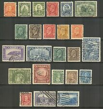 Canada #172/242, 1930-1938 Issues - 24 Different, Cancelled / Used