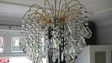 Ceiling Shade, Clear Droplet Crystal Light Shade Brand New