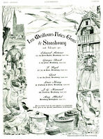 Publicité ancienne les meilleurs foies gras de Strasbourg 1936 issue de magazine