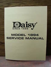 "Daisy Model 1894 BB Gun Repairman's ""SERVICE MANUAL"""